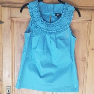Mossimo Teal Great Sleeveless blouse